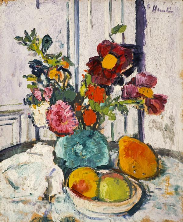 Still Life with Flowers and Fruit [verso: Still Life with Flowers and Bananas] (About 1923 - 1926)