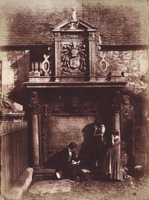 Greyfriars Churchyard, the Dennistoun Monument with David Octavius Hill and Mrs Millar (1843 - 1847)