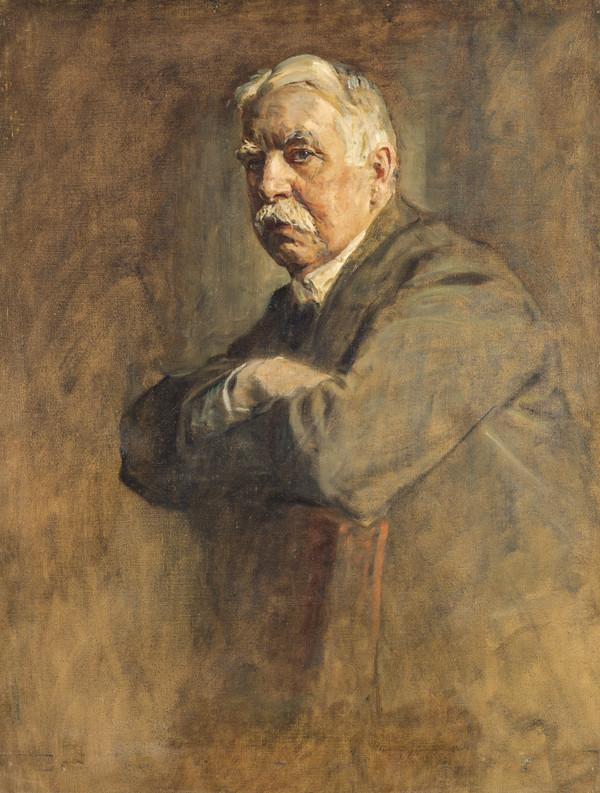 Edward Patrick Morris, 1st Baron Morris, 1859 - 1935. Prime Minister of Newfoundland. (Study for portrait in Statesmen of the Great War) (1918 - 1930)