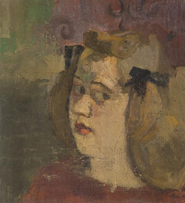 Girl with Bows in Her Hair (Late 1930s)