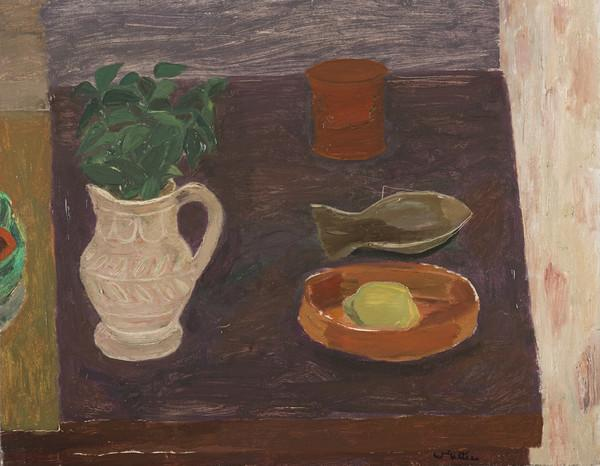 Still Life, Pot with Evergreen Leaves (About 1948)