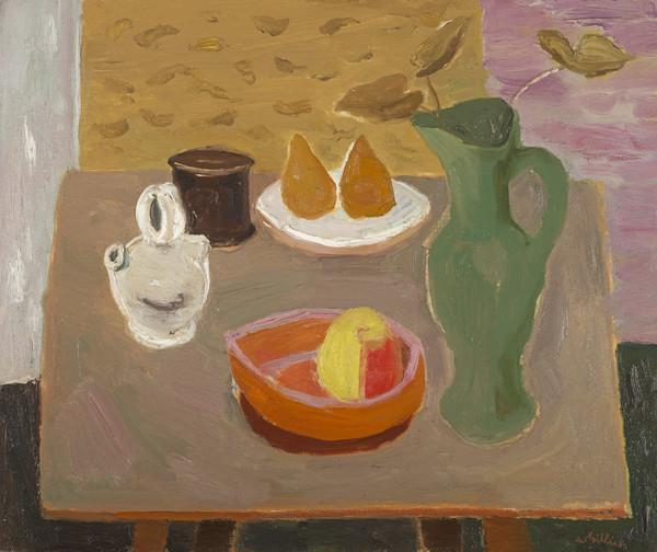 Still Life, Pears and Green Jug (About 1951)