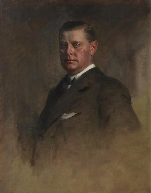 Sir Eric Campbell Geddes, 1875 - 1931. Statesman. (Study for portrait in Statesmen of the Great War) (1918 - 1930)