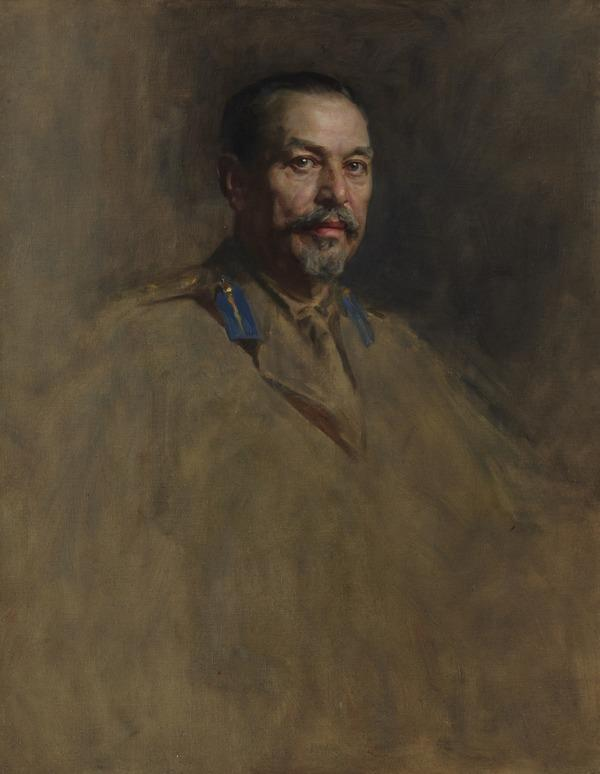 General Louis Botha, 1863 - 1919. Soldier and statesman. (Study for portrait in Statesmen of the Great War, National Portrait Gallery, London) (1918 - 1919)