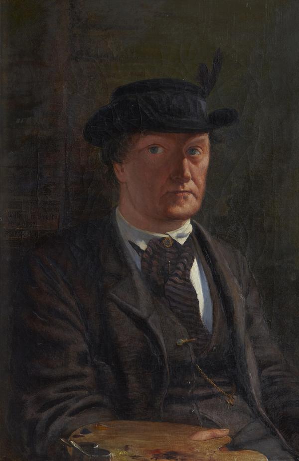 William Bell Scott, 1811 - 1890. Poet and artist (Self-portrait) (1867)