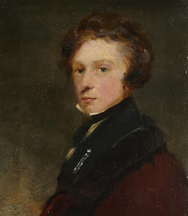 Andrew Geddes, 1783 - 1844. Artist (self-portrait?) (1812)