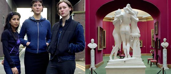 Fahima, Katy, Clare :  Newcastle, 1999; The Three Graces :  Le Grazie, Antonio Canova, 1815 - 17 :  the National Galleries of Scotland, Edinburgh...