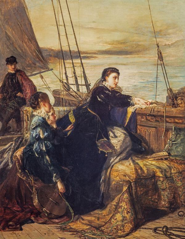 Mary, Queen of Scots: The Farewell to France (Dated 1867)