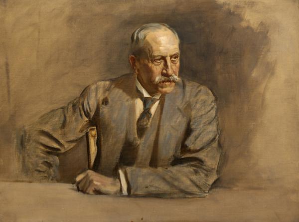 Sir Alfred Milner, 1st Viscount Milner, 1854 - 1925. Statesmen. (Study for portrait in Statesmen of the Great War) (1918 - 1925)