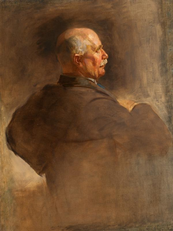 William Ferguson Massey, 1856 - 1925. Prime Minister of New Zealand (Study for portrait in Statesman of the Great War, National Portrait Gallery,... (1918 - 1925)