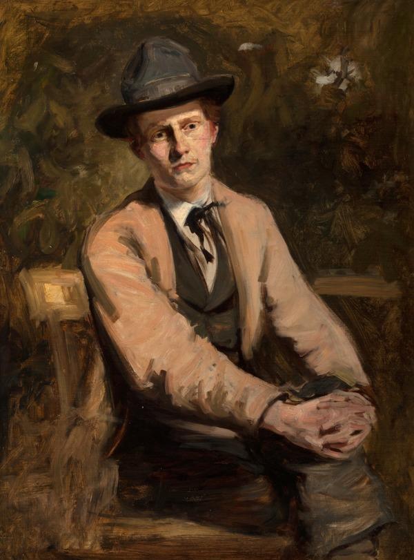William Darling McKay, 1844 - 1924. Artist (Self-portrait in his studio) (About 1860s)