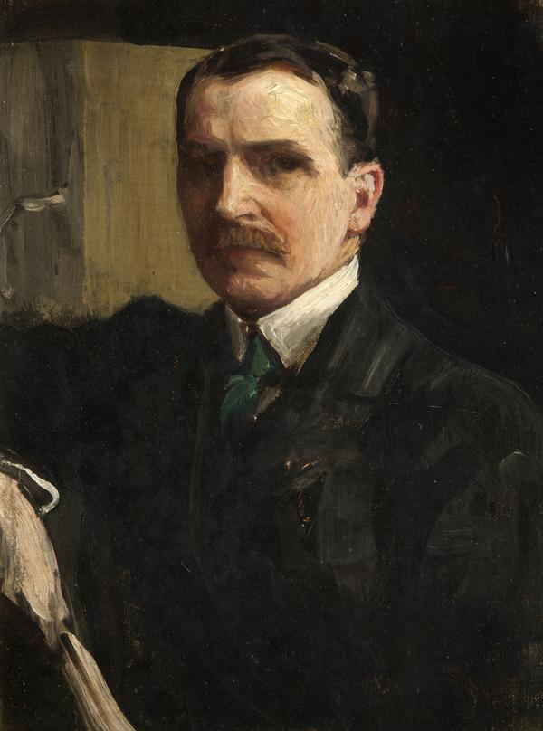 Sir James Guthrie, 1859 - 1930. Artist and President of the Royal Scottish Academy (Self-portrait) (About 1900 - 1910)