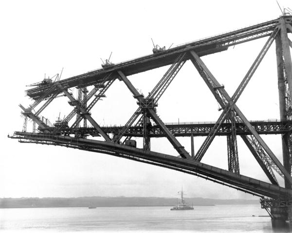 The Forth Bridge. Inchgarvie South Cantilver (September 21st 1889 (print by Michael and Barbara Gray 2007))