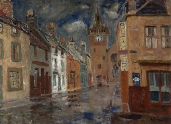 Rainy Day, Pittenweem (Late 1940s)