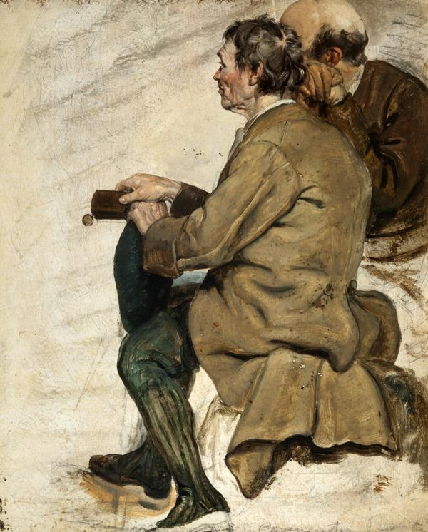 Two Seated Men (study for 'The Covenanters' Baptism') (1830)