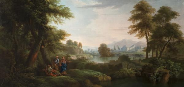 Classical Landscape with Trees and a Lake (Dated 1736)