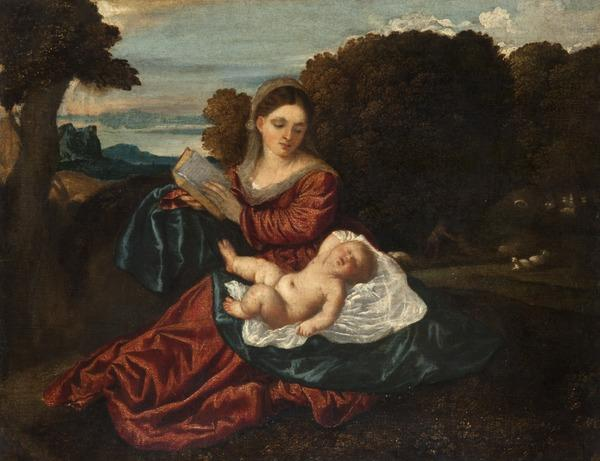 The Virgin and Sleeping Christ Child