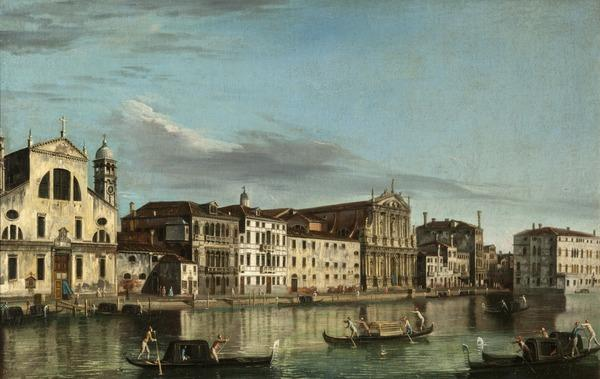 The Grand Canal: Santa Lucia and the Church of the Scalzi, Venice (About 1740 - 1760)