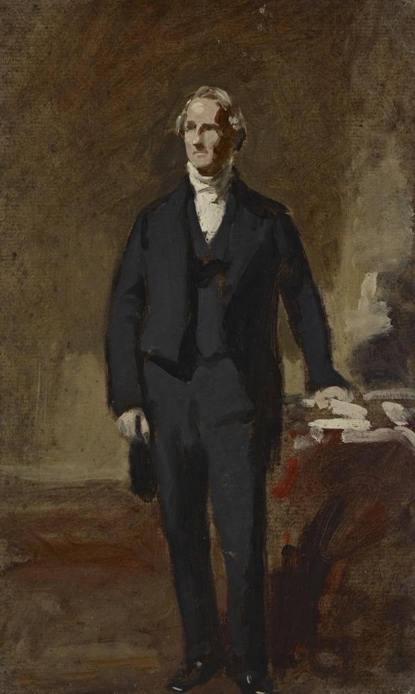 A Portrait Study of a Gentleman Standing in an Interior
