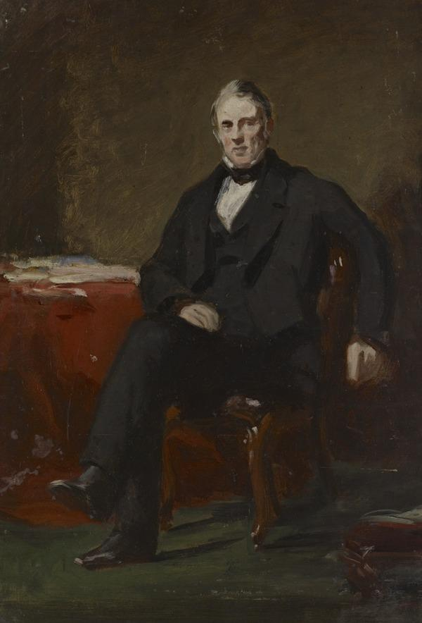 A Portrait Study of a Gentleman Seated in an Interior
