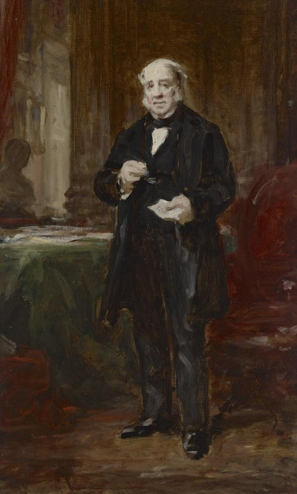 A Portrait Study of a Gentleman Standing in an Interior