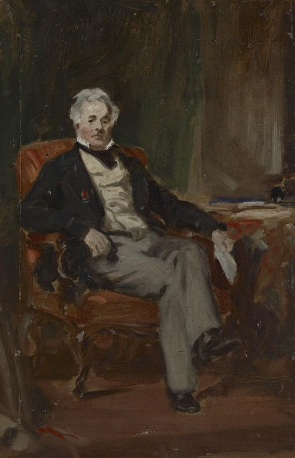 Study for a portrait of Colonel John Ferrier Hamilton of Cairnhill (1786-1871)
