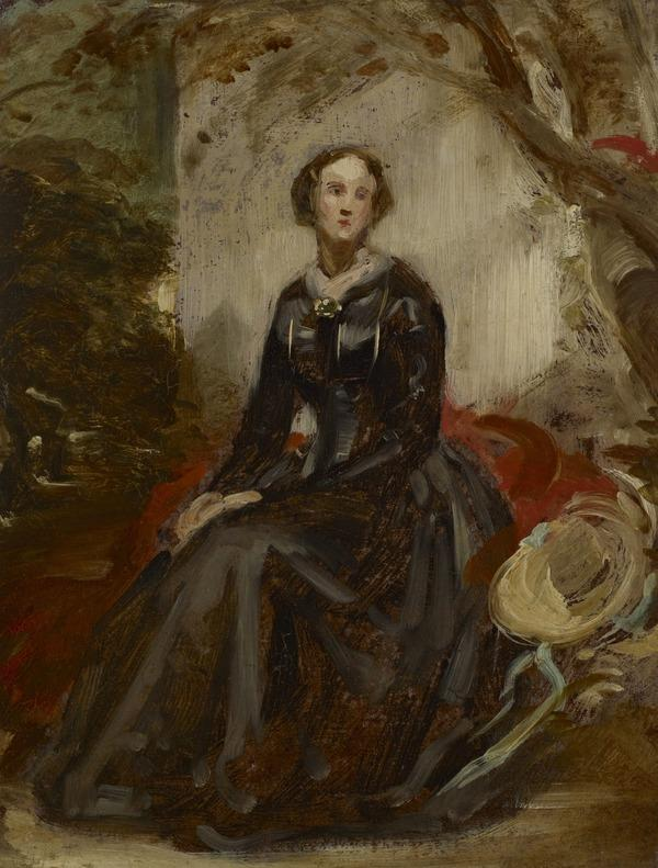 A Portrait Study of a Lady Seated in a Landscape