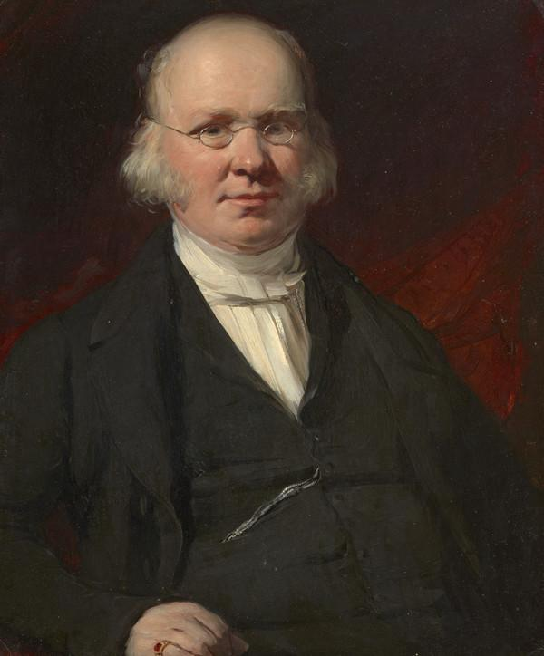 Rev. Dr Patrick Clason, 1789 - 1867. Minister in Buccleuch Parish Church, Edinburgh (About 1850)
