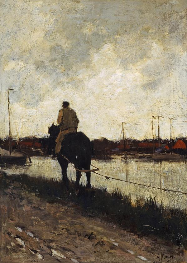 The Tow-path: No. 1 (About 1868 - 1878)