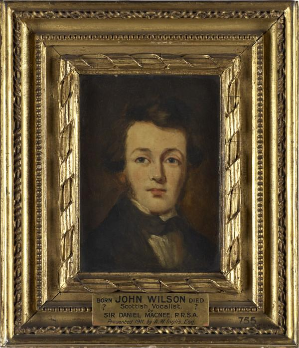 John Wilson, 1800 - 1849. Singer and composer of songs (About 1830)