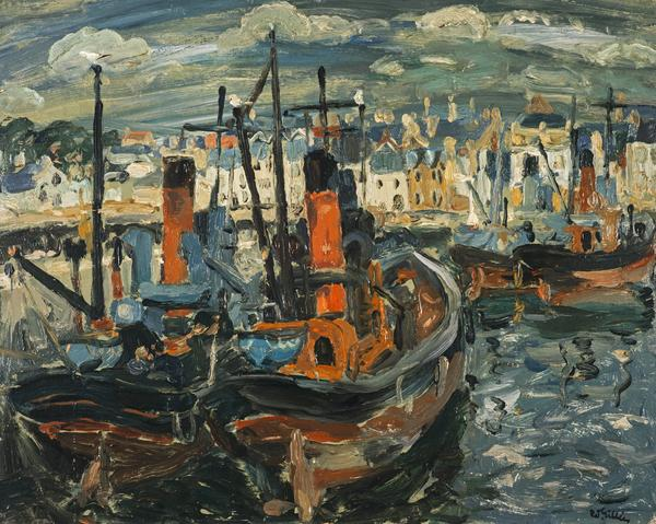 Fishing Boats, Anstruther Harbour (About 1945)