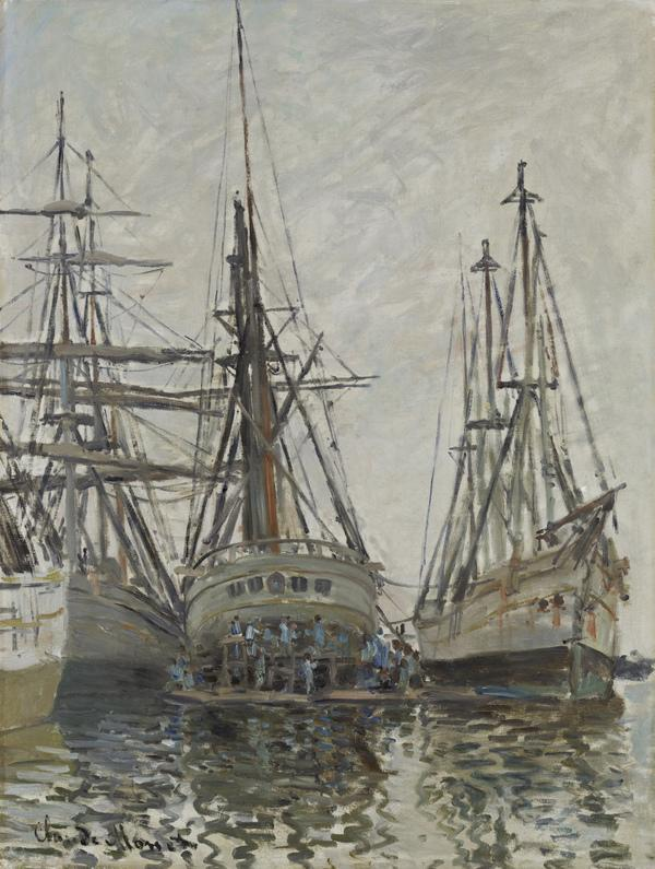 Boats in a Harbour (About 1873)
