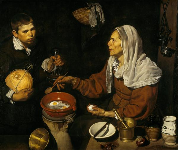 An Old Woman Cooking Eggs (1618)
