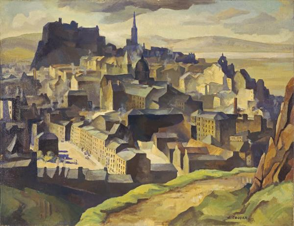 Edinburgh (from Salisbury Crags) (About 1927)