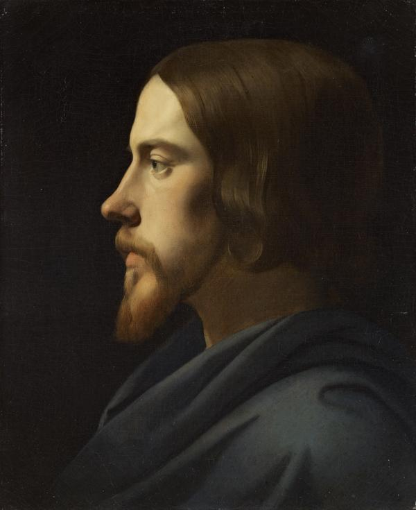 Study for the Head of Christ for La Madeleine, Paris (Portrait of Eugène Buttura) (About 1834)