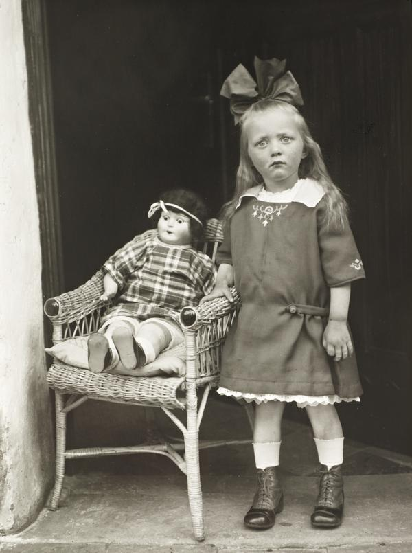 Girl with her Doll in a Chair, about 1927-30 (1927 - 1930)
