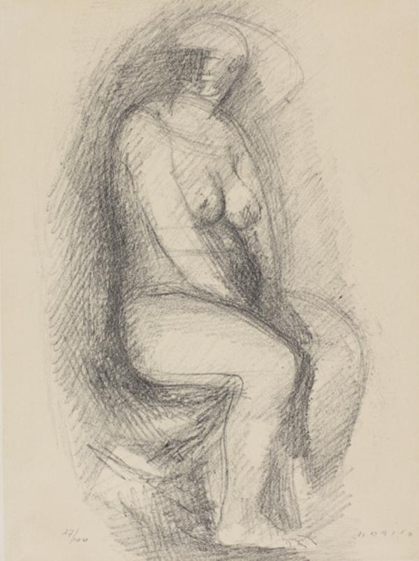Figura Seduta [Seated Figure] (for 'Marino Marini' by Filippo de Pisis) (1941)