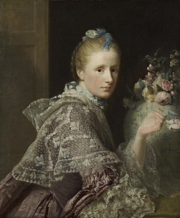 The Artist's Wife: Margaret Lindsay of Evelick, c 1726 - 1782 (1758 - 1760)
