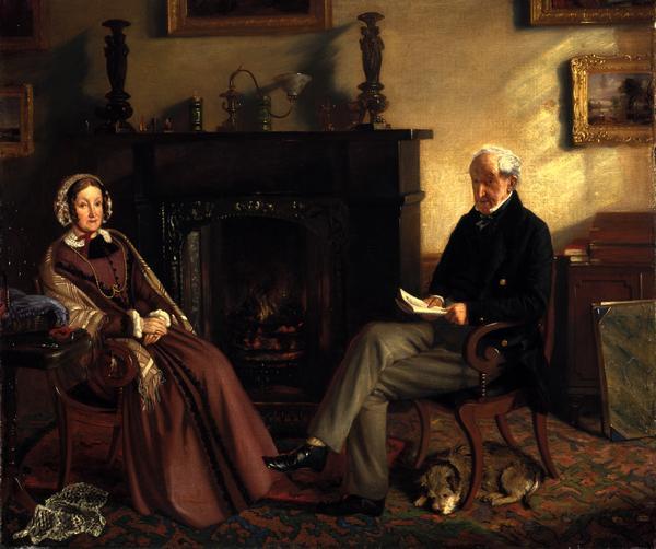 Sir Adam Ferguson, 1771 - 1855. Soldier; friend of Sir Walter Scott (with Lady Ferguson) (About 1847 - 1851)
