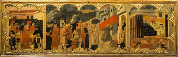 Cassone with Scenes from Boccaccio's 'Decameron' (About 1420 - 1425)