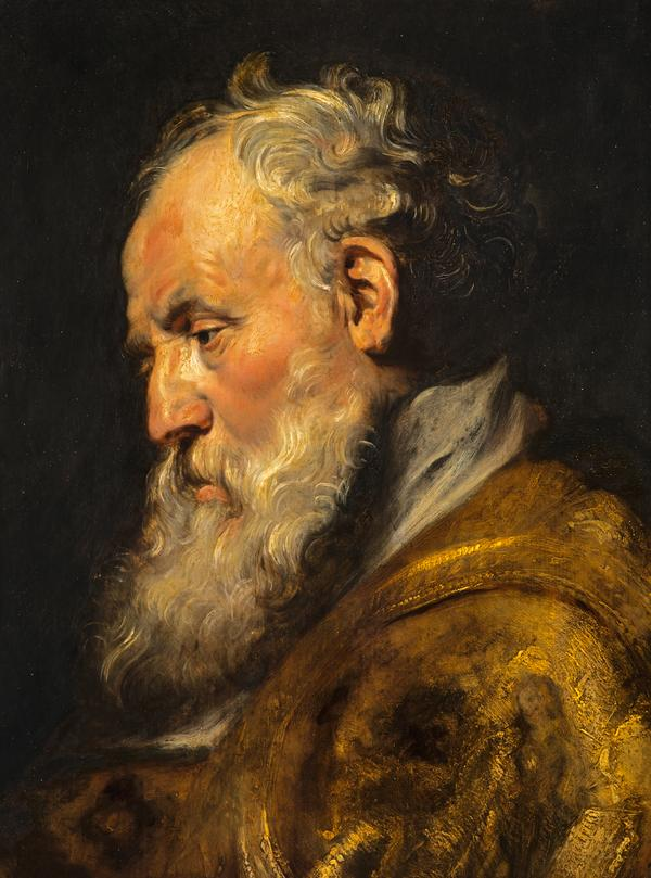 A Study of a Head (Saint Ambrose) (About 1618)