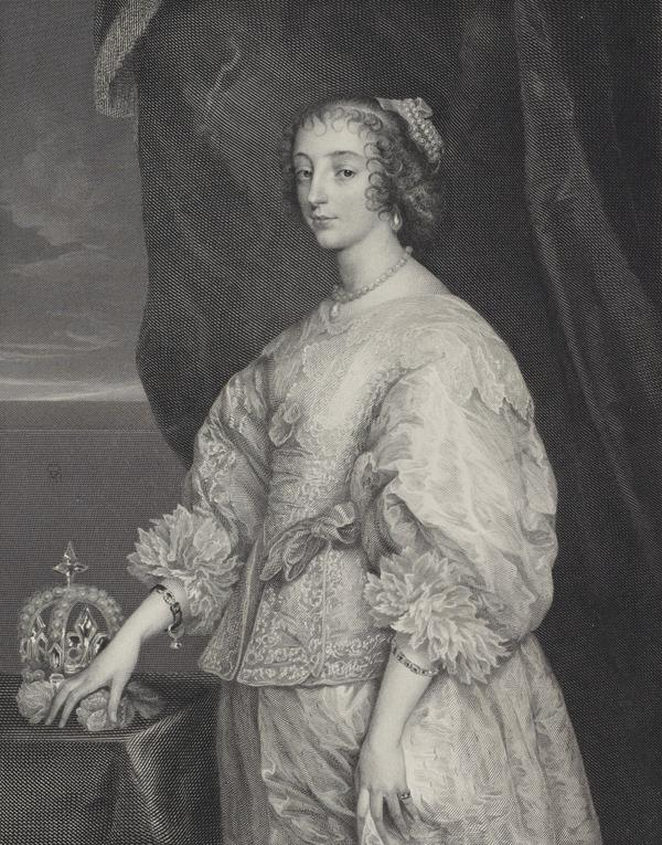 Queen Henrietta Maria, 1609 - 1669. Queen of Charles I (Published 1854)