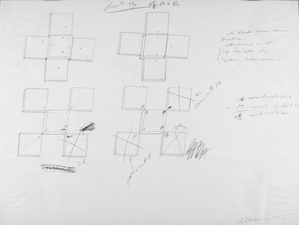Untitled (Drawing for Enforced Perspective) (1975)
