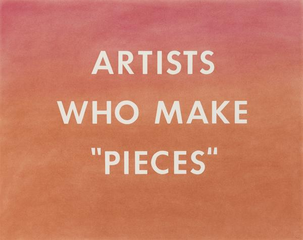 "ARTISTS WHO MAKE ""PIECES"" (1976)"