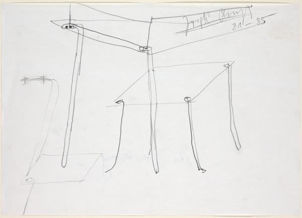 Drawing for Domenica delle Palme vitrine (1981-1985)