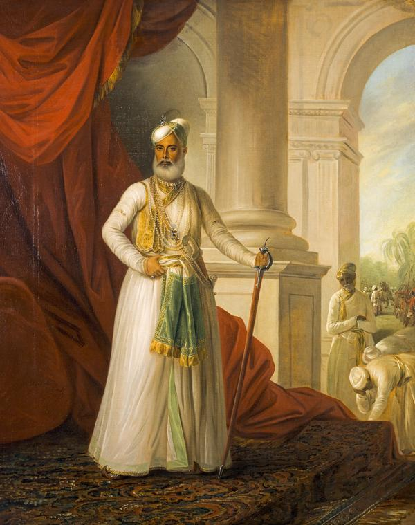 Mohamed Ali Khan Walejah, 1717 - 1795. Nawab of the Carnatic (1777)