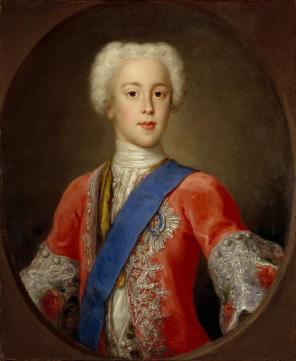 Prince Charles Edward Stuart, 1720 - 1788. Eldest son of Prince James Francis Edward Stuart (1732)