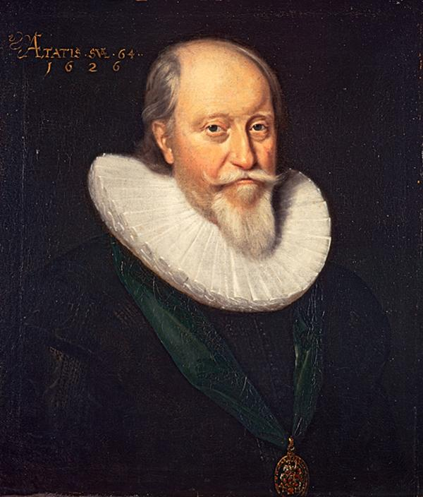John Erskine, 2nd Earl of Mar, c 1562 . 1634. Lord High Treasurer of Scotland (Dated 1626)
