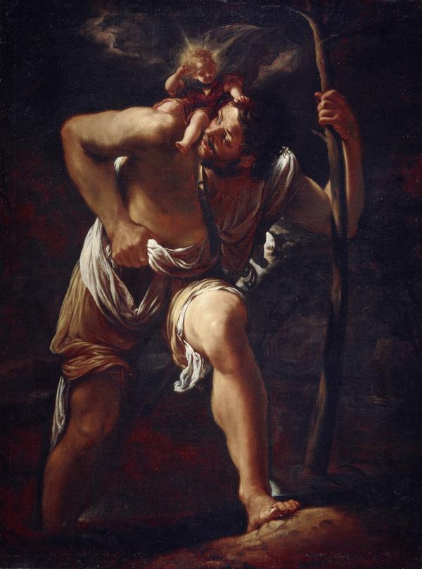 Saint Christopher Carrying the Infant Christ (About 1615)