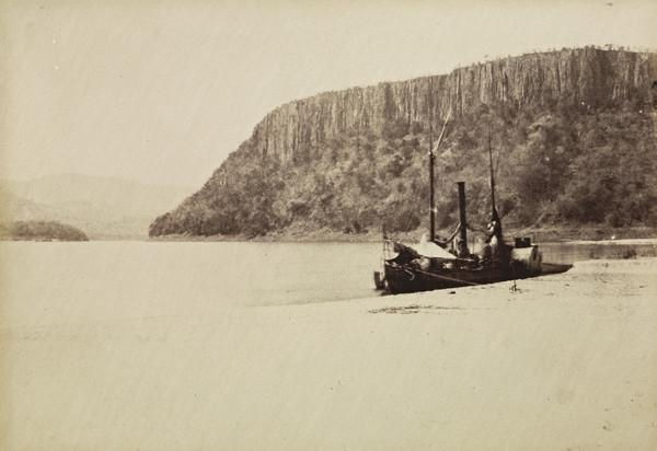 Unknown moored boat
